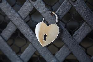 A Love Lock on a Fence on the Lanterna, the Uppermost Platform of the Brunelleschi Cupola by Dave Yoder