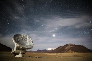 An Antenna Forms Part of the Atacama Large Millimeter/Submillimeter Array, Alma by Dave Yoder