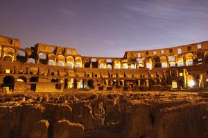 Night View of Rome's Colossum with the Hypogeum, Its Lower Structure by Dave Yoder