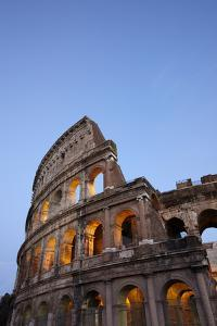Outside Rome's Colosseum At Dusk by Dave Yoder