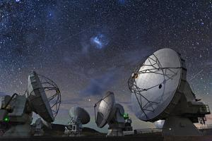 Six of the Giant Dishes Forming the Atacama Large Millimeter/Submillimeter Array, Alma by Dave Yoder