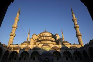 The Blue Mosque in Sultanahmet Park, Istanbul by Dave Yoder