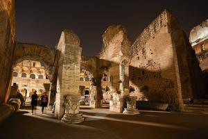Visitors At the Colosseum During an Evening Visiting Hours by Dave Yoder