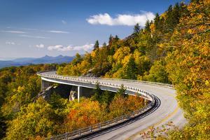 Blue Ridge Parkway Linn Cove Viaduct North Carolina Appalachian Landscape by daveallenphoto