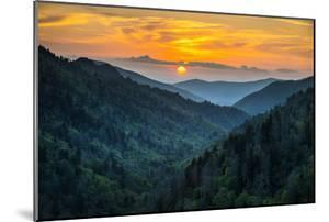Gatlinburg Tn Great Smoky Mountains National Park Scenic Sunset Landscape by daveallenphoto