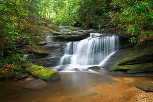 Motion Blur Waterfalls Nature Landscape in Blue Ridge Mountains by daveallenphoto