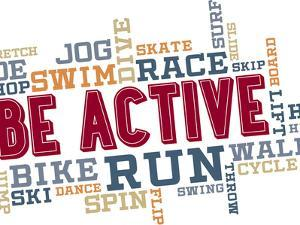 Active Fitness Word Cloud Collage by daveh900