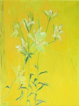 Lillies on Yellow