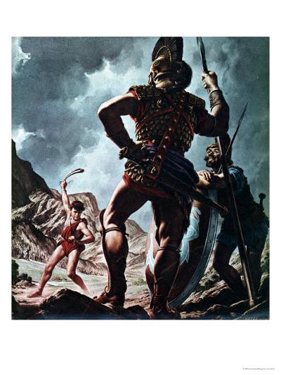 David and Goliath-Jack Hayes-Giclee Print