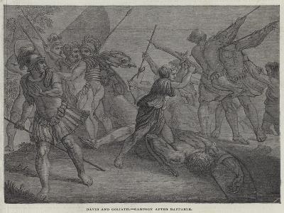 David and Goliath--Giclee Print