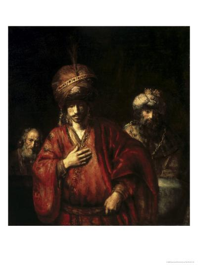 David and Uriah-Rembrandt van Rijn-Giclee Print