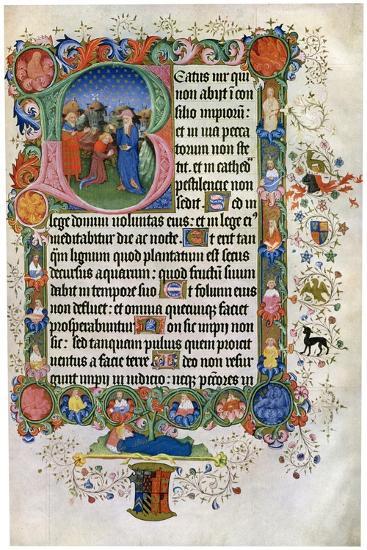 David Anointing David, C15th Century--Giclee Print