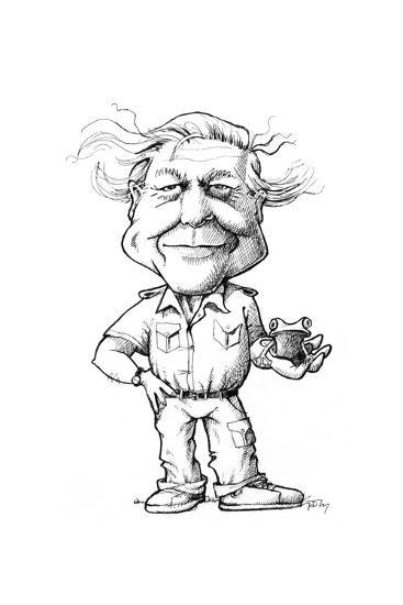 David Attenborough, British Naturalist-Gary Gastrolab-Giclee Print