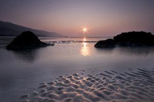 Beach at Sunset by David Augustin