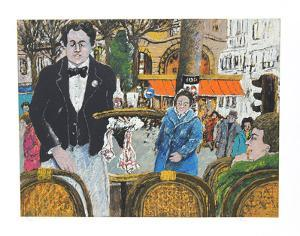 Waiter in Cafe Margolin by David Azuz