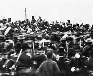 Abraham Lincoln at the Gettysburg Address, 1863 (Detail) by David Bachrach