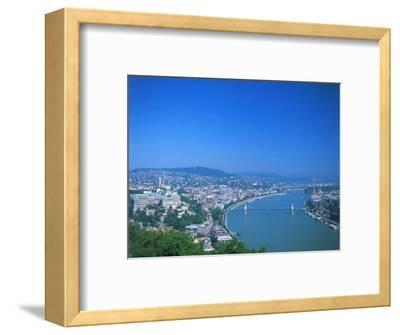 Aerial View of Gellert Hill, Budapest, Hungary
