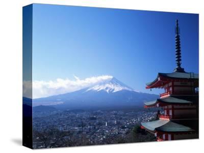 Pagoda and Mt. Fuji, Japan