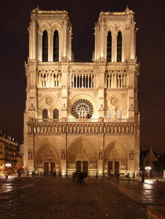 The Famous Cathedral of Notre Dame in Paris after the Rain, France