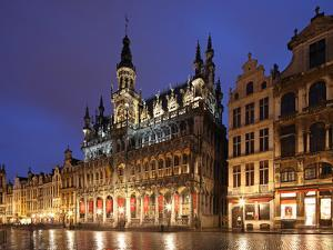 The Maison Du Roi (King's House) on the Famous Grande Place in the City Centre of Brussels, Belgium by David Bank