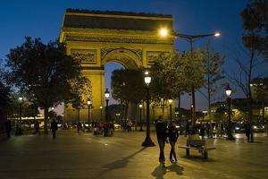 Arch of Triumph, Champs Elysee, Paris, France , by David Barnes