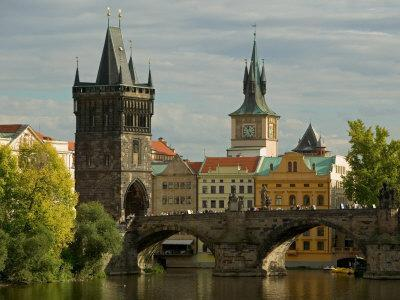 Charles Bridge and Old Town Bridge Tower, Prague, Czech Republic