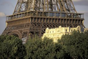 Europe, France, Paris, Eiffel Tower and apartment building by David Barnes