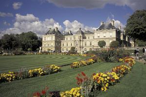 Europe, France, Paris, Luxembourg Garden; Palais du Luxembourg by David Barnes