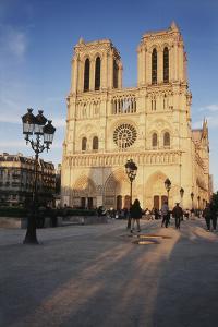 France, Paris Notre-Dame, Cathedral Place De La Parvis by David Barnes