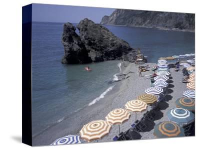 Mediterranean Beach in Cinque Terre, Liguria, Italy,