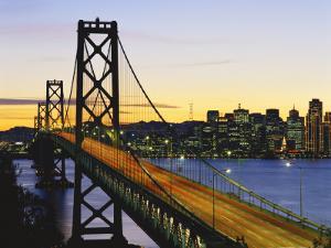 Oakland Bay Bridge at Dusk, San Francisco, California, USA by David Barnes