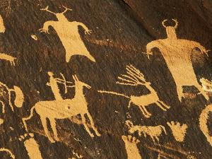 Petroglyphs, Newspaper Rock State Historic Monument, Canyonlands National Park, Utah, USA by David Barnes