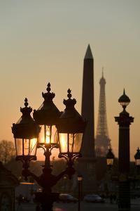 Place de la Concorde, Obelisk, Eiffel Tower, Paris, France by David Barnes