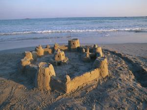 Sandcastle at Beach by David Barnes