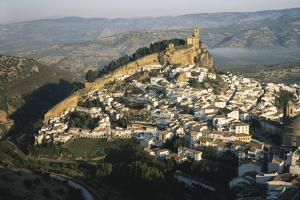 Spain, Montefrio, Andalusia, Aerial Town and Church by David Barnes