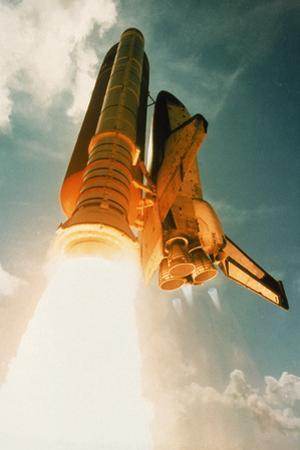 Space Shuttle Lifting Off by David Bases