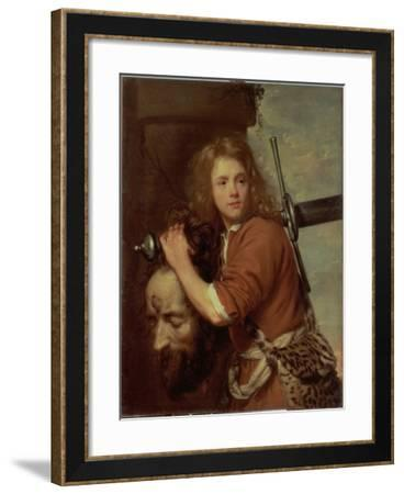David Bearing the Head of Goliath, 1643-Jacob Van Oost-Framed Giclee Print