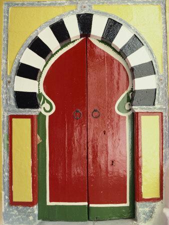 Door to the Hamman, Medina, Tunis, Tunisia, North Africa, Africa