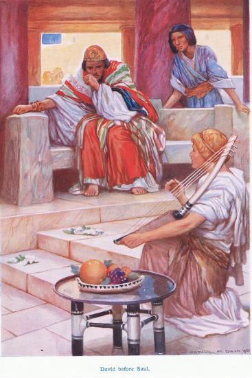 David before Saul-Arthur A^ Dixon-Giclee Print