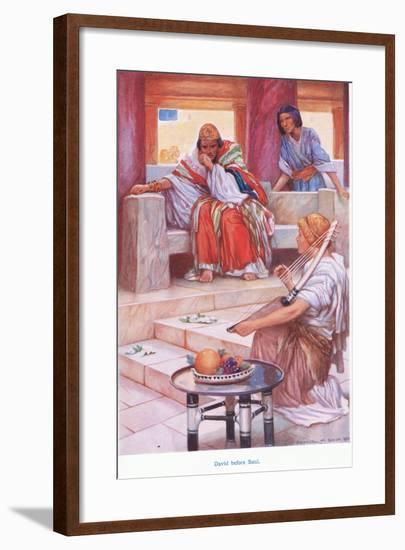 David before Saul-Arthur A. Dixon-Framed Giclee Print