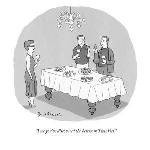 """""""I see you've discovered the heirloom Twinkies."""" - New Yorker Cartoon by David Borchart"""