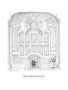 """Ready, Hans? Deep breath."" - New Yorker Cartoon by David Borchart"