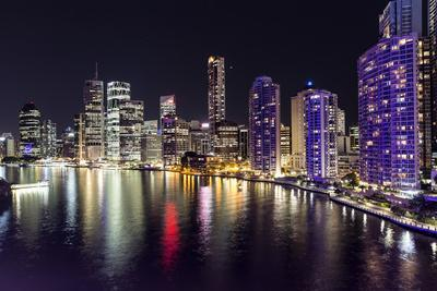 Brisbane Cityscape by Night
