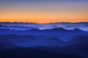 Misty Mountains by David Bouscarle