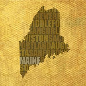 Maine State Words by David Bowman