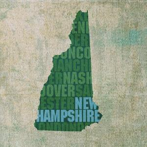 New Hampshire State Words by David Bowman