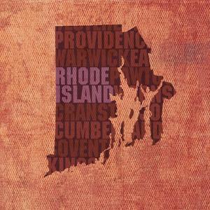 Rhode Island State Words by David Bowman