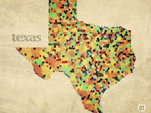 Texas County Map by David Bowman