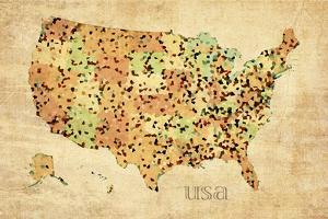 USA Crystallized County Map by David Bowman