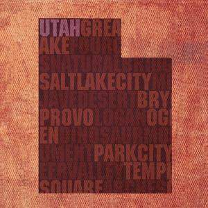 Utah State Words by David Bowman
